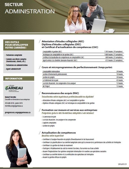 Fiche secteur administration